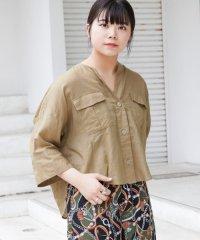 【ITEMS】ノーカラーポケットアサシャツジャケット
