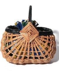 カカトゥ kakatoo / アフリカンプリント巾着付ウィローカゴバッグ