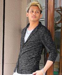 七分袖ジャケット/テーラードジャケット メンズ スラブ 七分袖