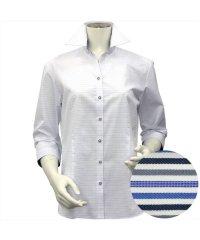 シャツ 七分袖 形態安定 スキッパー衿 レディース ウィメンズ
