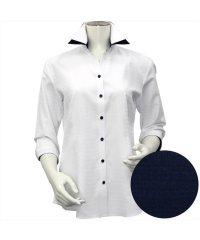 シャツ 七分袖 形態安定 スキッパー ダブル衿 透け防止 レディース ウィメンズ