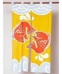 【カヤ】和柄長暖簾 鯛 7ISP0105
