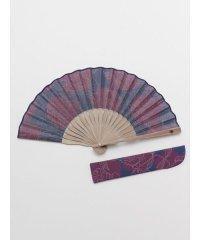 【カヤ】色芍薬扇子 袋付き 7XCP0120