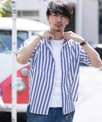【ROSSO】リラックスストライプ半袖シャツ