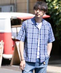 【ROSSO】オープンカラーチェックシャツ