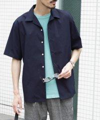 【UR】ソロテックス/リネンオープンカラーS/Sシャツ
