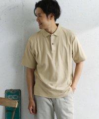 【DOORS】梨地コットンルーズポロシャツ