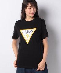 :GUESS 発泡ビッグロゴTシャツ