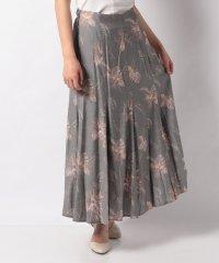 ボタニカル柄フレアマキシスカート
