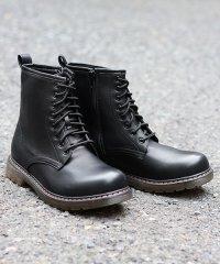 8ホール ブーツ クリアソール メンズ 靴 レースアップ サイドジップ/1702