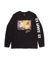 ロングスリーブグラフィックTシャツ BI PHOTO MINERAL BLACK