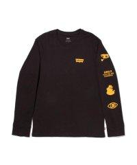 ロングスリーブグラフィックTシャツ HM SSNL WORLD LS MINERAL BLACK