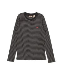ロングスリーブ BABY Tシャツ AGNES STRIPE FORGED IRON