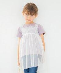 チュールキャミ+半袖Tシャツセット(90~150cm)