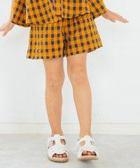 【セットアップ対応商品】ギンガムチェック柄ショートパンツ(80~150cm)