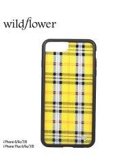 wildflower ワイルドフラワー iPhone 8 7 6 6s Plus ケース スマホ 携帯 アイフォン レディース チェック イエロー YPLA