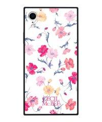iPhoneXR CECILMcBEE [小花柄/WHITE] 背面ガラスケース