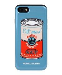 iPhone8/7兼用/RODEOCROWNS [スープ/BLUE] カード収納型背面ケース
