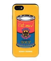 iPhone8/7兼用/RODEOCROWNS [スープ/YELLOW] カード収納型背面ケース