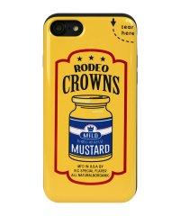 iPhone8/7兼用/RODEOCROWNS [マスタード] カード収納型背面ケース