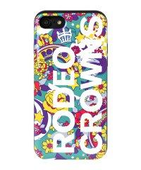 iPhone8/7兼用/RODEOCROWNS [ロゴフラワー/EMERALD] カード収納型背面ケース
