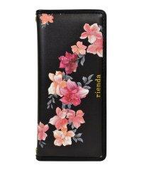 Xperia1 rienda[パイピング/Emerges Flower/ブラック]手帳ケース