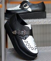 モンクストラップシューズ ラバーソール ベルト メンズ 靴 厚底/1710