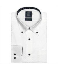 ワイシャツ 長袖 形態安定 ボタンダウン 綿100% 標準体 メンズ