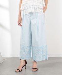 【セットアップ対応】裾ローン刺繍ワイドパンツ