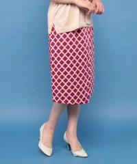 幾何柄プリントラップスカート