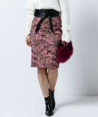 ゴブラン風フラワージャガードタイトスカート