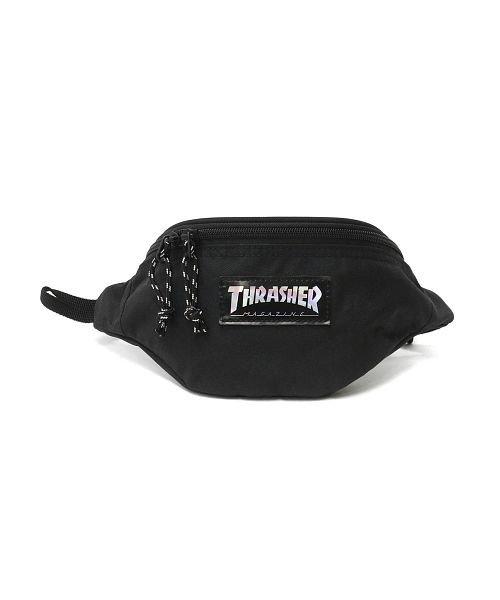 (THRASHER/スラッシャー)スラッシャー ウエストバッグ THRASHER ウエストポーチ Benchmark Waist Bag S 斜めがけ ボディバッグ 撥水 THR−110/ユニセックス ブラック