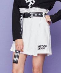 星ロゴベルト付スカート風ショーパン