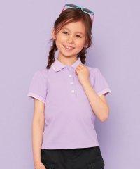 【110-140cm】スカラップカラー ポロシャツ