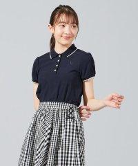 【150-170cm】スカラップカラー ポロシャツ