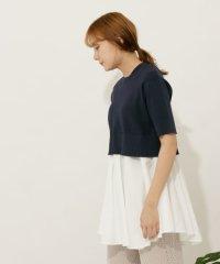 レイヤードセーター(5分袖)