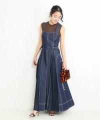 【CASA FLINE/カーサフライン】フロントホックデニムワンピース◆