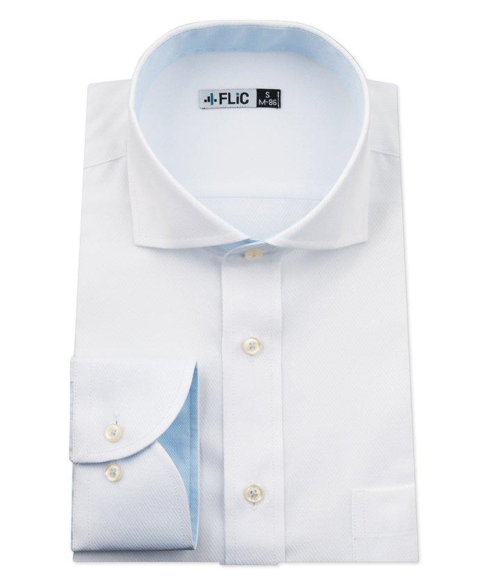 (FLiC/フリック)ワイシャツ メンズ ホリゾンタル ワイド 長袖 形態安定 シャツ ドレスシャツ ビジネス ノーマル スリム yシャツ カッターシャツ 定番 ドビー 織柄 おしゃ/メンズ その他