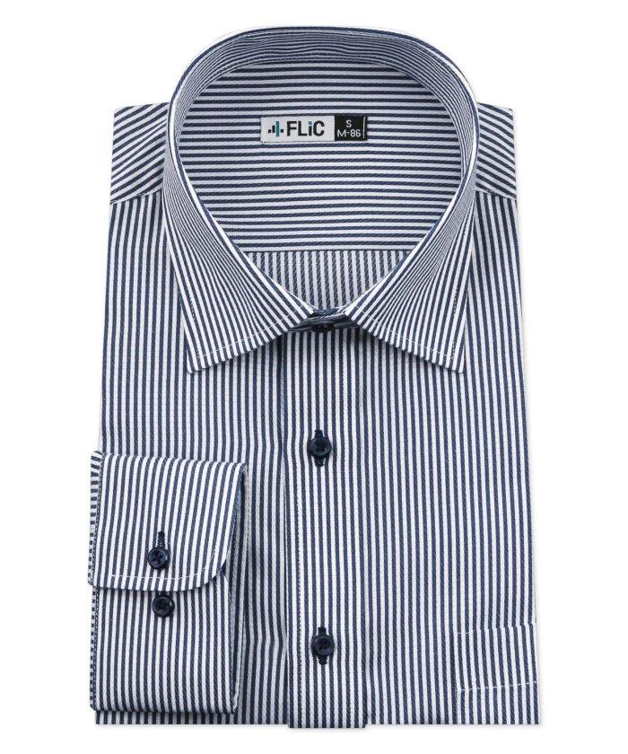 (FLiC/フリック)ワイシャツ メンズ ショートワイド ワイド 長袖 形態安定 シャツ ドレスシャツ ビジネス ノーマル スリム yシャツ カッターシャツ 定番 ストライプ ドビー/メンズ その他