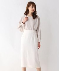 【洗える・42(LL)WEB限定サイズ】コンパクトツイルサスペンダータイトスカート