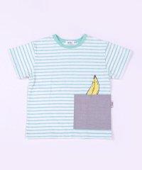 ポケットインフルーツボーダーTシャツ