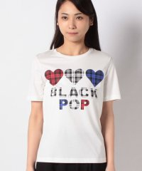 BLACK POP ロゴ半袖Tシャツ