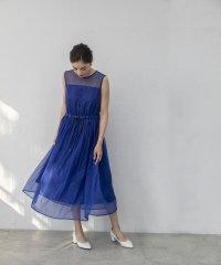 ストライプレースドレス