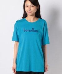 コットンモダールブランドロゴプリント半袖Tシャツ・カットソー