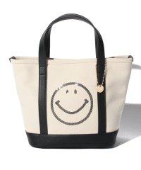 カシュカシュ cachecache / スマイルスパンコール刺繍キャンバストートバッグ