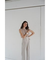 COLOR LINE SHEER NO SLEEVE TOPS