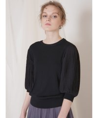 Pleat Sleeve Knit Top