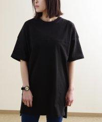 【2020新作】切替えデザインスリット入りビッグTシャツ mitis SS