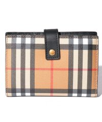 【Burberry】Vintage Check Leather Folding Wallet
