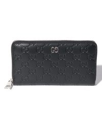 【GUCCI】Online Only Gucci Signature Leather Zip Around Wallet
